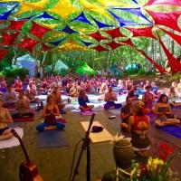 Johanna teaching Lullaby Yoga at Beloved
