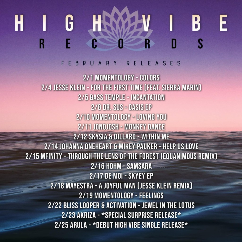 High Vibe Feb Releases Add To Web Event And Song Page
