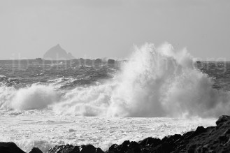 Turbulent water in the Blasket Sound