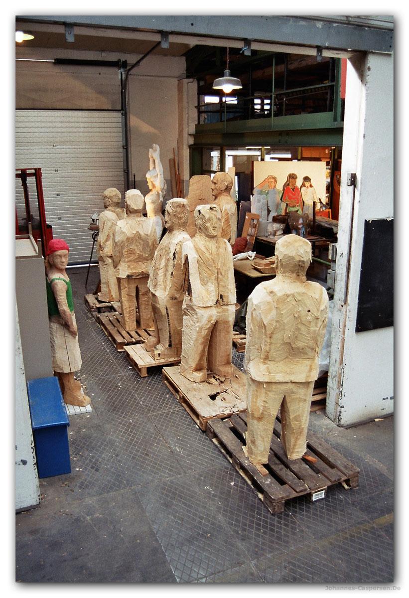 2006 Entstehung Einer Skulpturengruppe von Johannes Caspersen