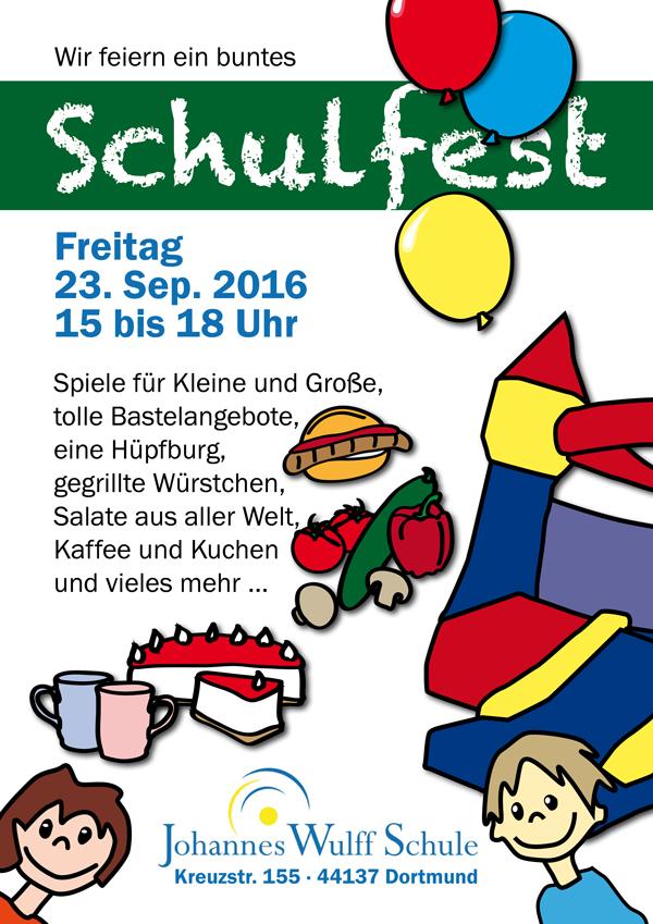 Schulfest-Plakat