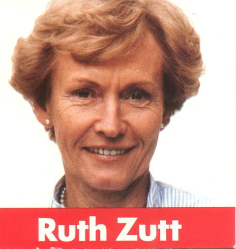 Ausschnitt aus der offizielle Visitenkarte von Ruth Zutt.