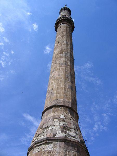 Ein Minarett in Eger