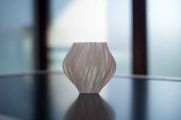 Koch Snowflake Vase 3D-Printed with the Ultimaker