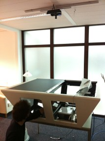TwinTable in the Workshop in our new Laboratory Kinect Enhancement 3
