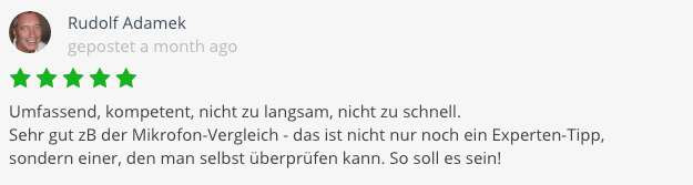 Bewertung Johannes Metzler