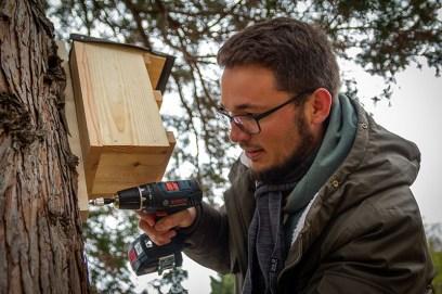 Vogelnistkastenanbringung auf dem Trinitatisfriedhof am 02.03.2019. +++ Aufgenommen von RObert MIchalk