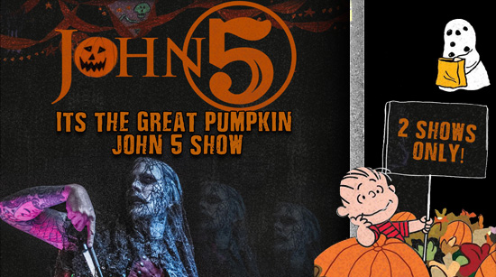 John 5 and The Creatures Great Pumpkin Halloween show 2017