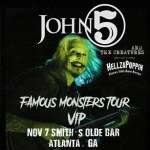 John 5 and The Creatures Famous Monsters Tour