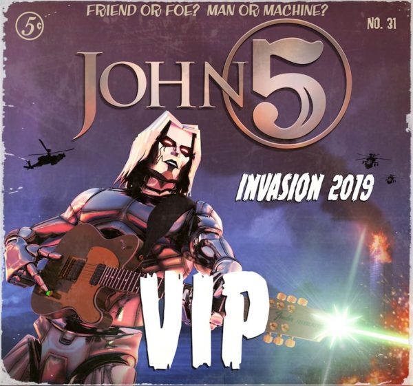 John 5 and The Creatures VIP package Invasion 2019 tour