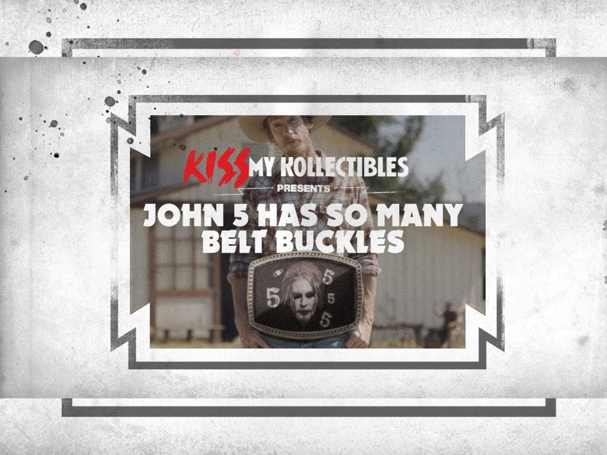 John 5 KISS My Kollectibles belt buckles