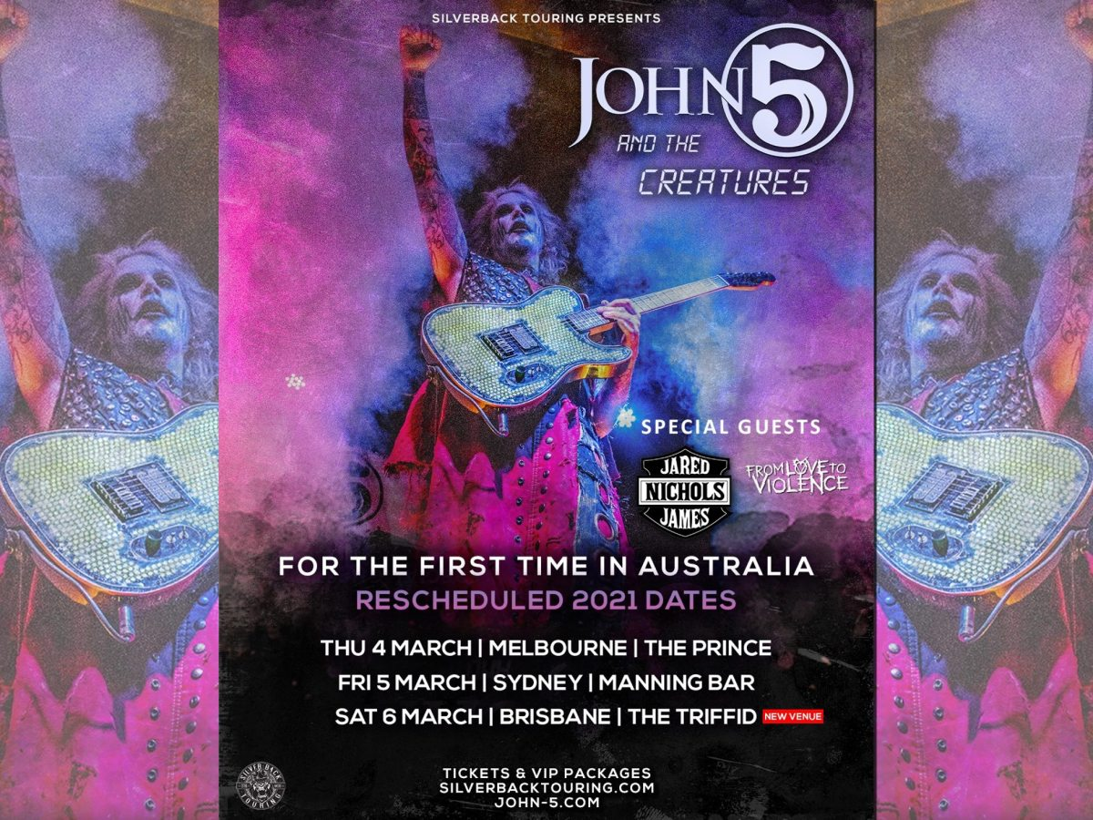 John 5 and The Creatures Jared James Nichols postponed tour till March 2021