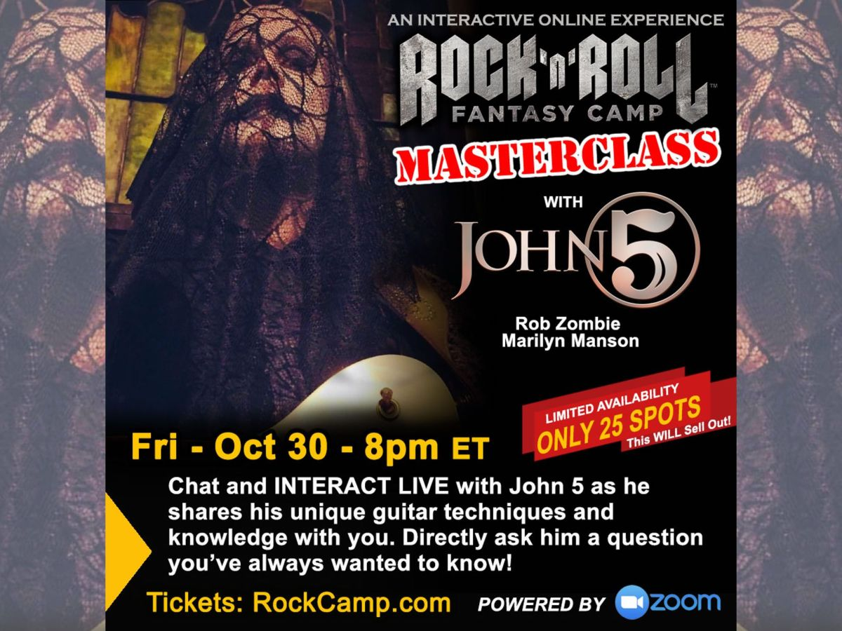 Rock and Roll Fantasy Camp John 5 virtual masterclass October 2020