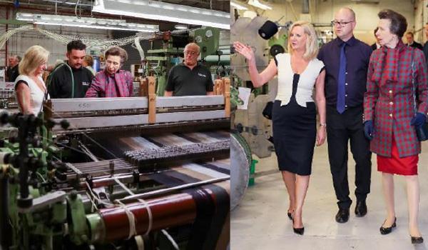 Princess Anne visits Luxury Fabrics