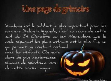 Samhain est le sabbat lié à Halloween