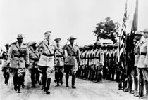 MacArthur inspects Philippine Scouts, 1936.