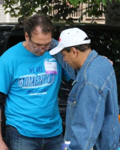 Pastors praying for others at Convoy of Hope outreach event
