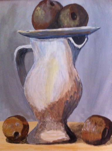 Pitcher and Apples - detail