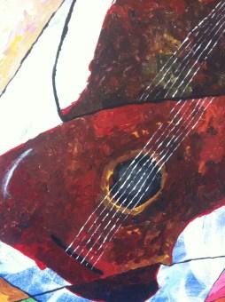 Guitar and Broken Window - detail