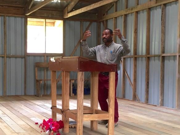 Ben doing an exposition of 1 John in Kamea