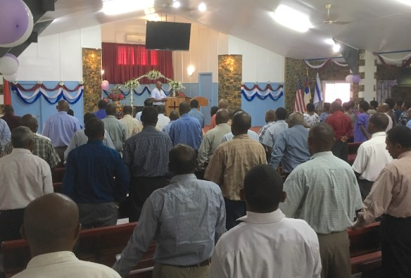 Pastors attending the Pastors' Workshop at Calvary Baptist