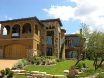 Custom Home. Tuscan Design Lake Travis. Designed