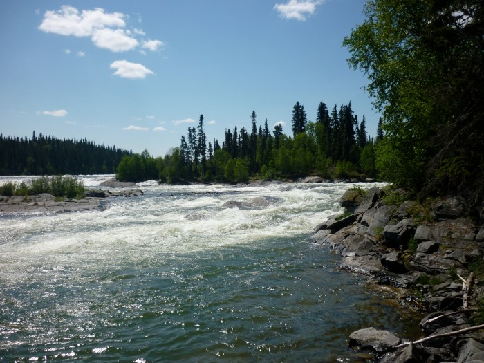 Steephill Rapids as viewed from the downstream end of the portage