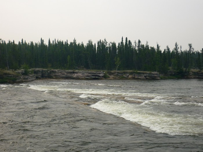 Thompson Rapids taken from the portage