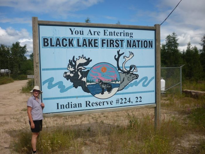Black Lake First Nation extends almost to the Stony Rapids townsite