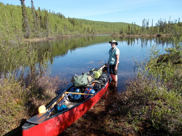 The official northern end of the Chipman, un-named lake 'A', what a joy to be paddling instead of portaging