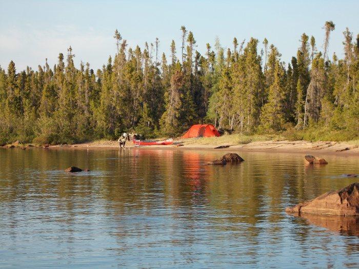 Camp on Woldaia Lake