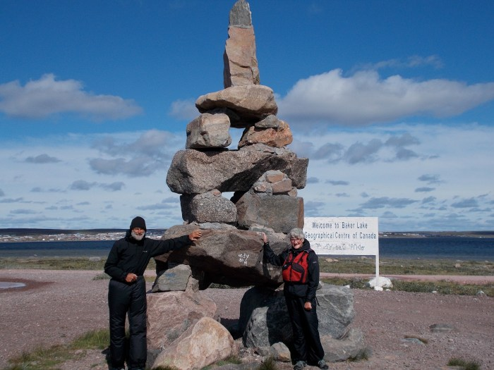 Big Inukshuk, photo taken by the friendly Inuit security guy from the airport