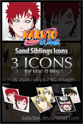 Naruto II Sand Siblings Icons