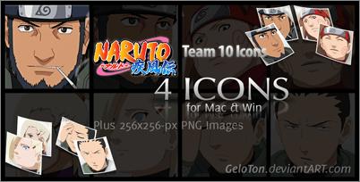 Naruto II Team 10 Icons