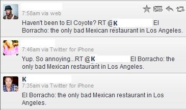 Bad Mexican Restaurant - Twitter Stream