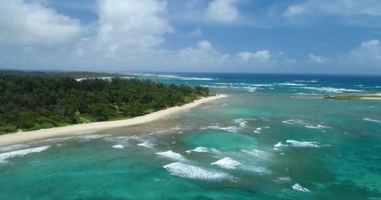 drone photo-Oahu-Sky, Clouds, Beach, Water