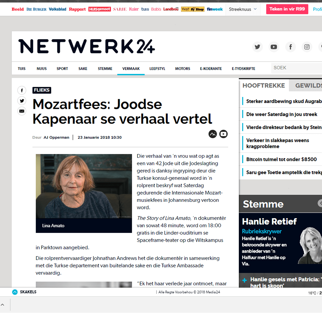 Johnathan Andrews On Netwerk24