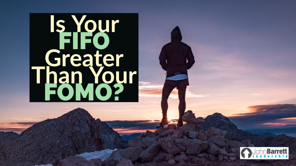 Is Your FIFO Greater Than Your FOMO?