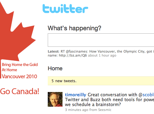 Vancouver 2010 Twitter theme