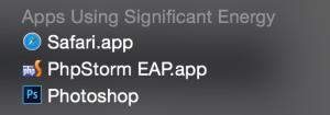 PHPStorm Power Consumption
