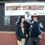 My granddaughter and me in front of Raw Space where I did a reading/performance with a jazz trio back in 2010.