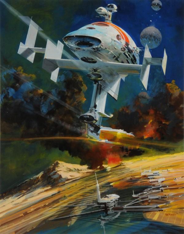 John Berkey Art . - Space