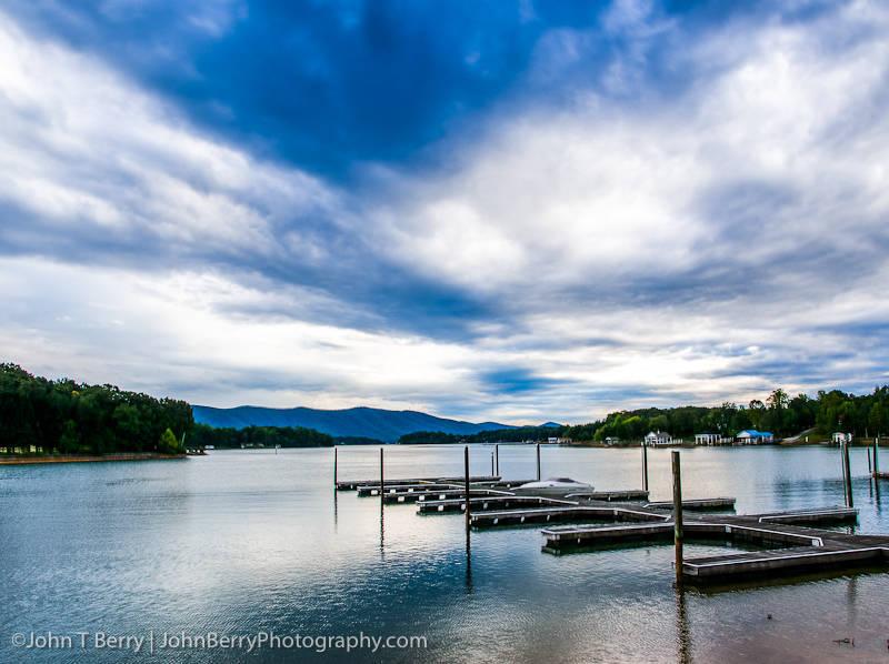 Clouds over Smith Mountain Lake Virginia.