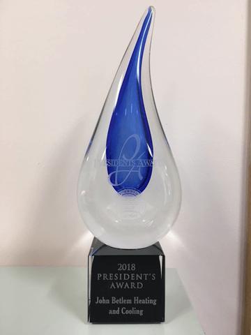 john betlem's carrier president's award trophy