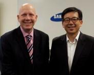 Honourable Mayor Greg Moore (Port Coquitlam) & HT Kim, President & CEO, Samsung Canada
