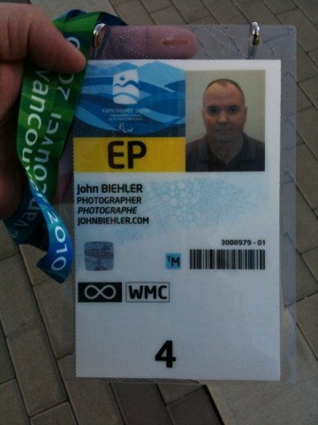 Paralympic credentials