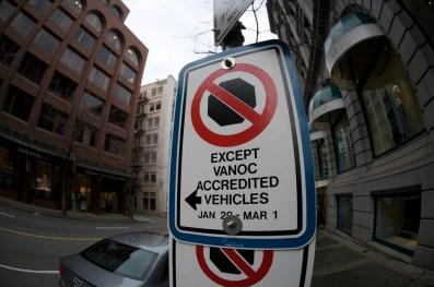 VANOC parking only