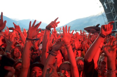 Hands in the air for DJ Snake