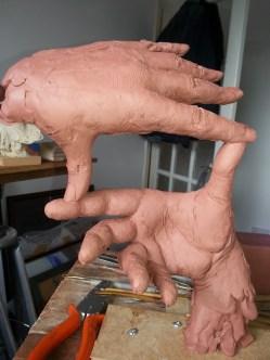 Maquette Directors hands