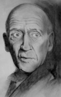 Portrait chalk on paper